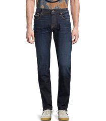 cult of individuality men's rocket slim-fit whiskered jeans - origin - size 32
