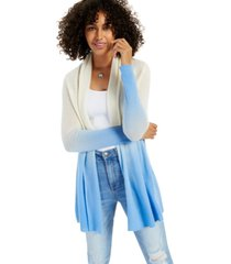 cashmere dip dye long-sleeve rolled edge completer sweater, created for macy's
