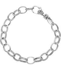 lagos 'link' caviar chain bracelet, size medium in silver at nordstrom