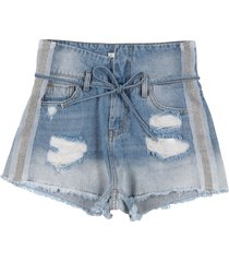 trash & luxury denim shorts