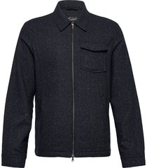 dulwich jacket overshirts blauw morris