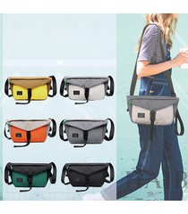 canvas casual waist borsa crossbody borsa per uomo donna