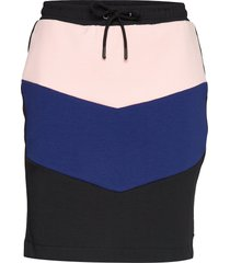 colorblock sweat skirt knälång kjol multi/mönstrad scotch & soda