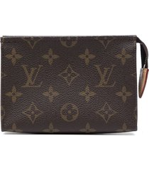 louis vuitton 2010 pre-owned poche toilette 15 cosmetic pouch - brown