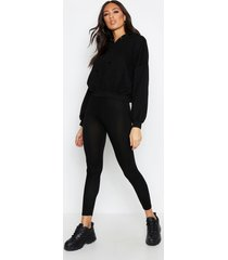 basic jersey legging, black
