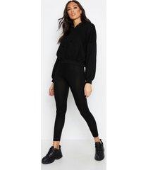 basic jersey leggings, black