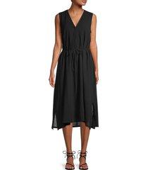vince women's cinched sleeveless dress - black - size xs