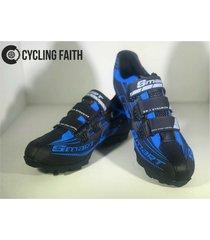 zapatillas para ciclismo de ruta smart sm3 sm0002m azul negra