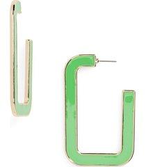 women's bp. rectangle hoop earrings