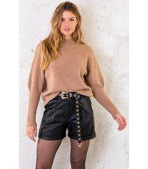 lurex sweater camel