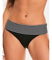 tailor fold stripe bikini bottom