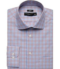pronto uomo red & blue plaid slim fit dress shirt