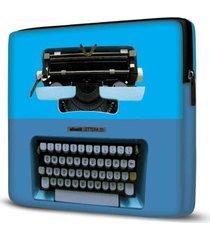 capa para notebook isoprene máquina escrever 15 polegadas