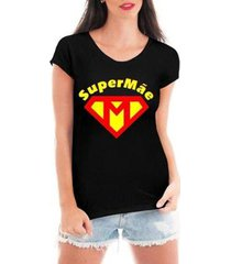 camiseta criativa urbana feminina tshirt super mãe dia das mães heroína - feminino