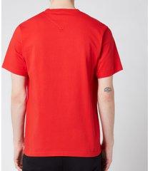 kenzo men's logo classic t-shirt - medium red - xxl