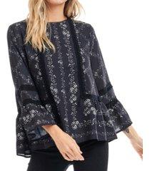 fever bell sleeve blouse
