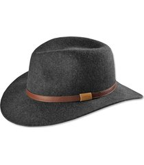 heathered-felt hat, gray, 2xl