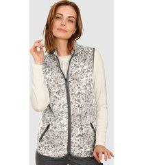 fleece bodywarmer paola ecru::grijs