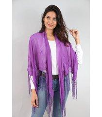 poncho  violeta spiga 31