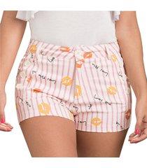 envío gratis pantalon corto donella rosado para mujer croydon