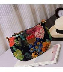 borsa a tracolla oxford floreale borsa da donna shouder borsa per uso quotidiano