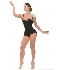 body espalda alta forrada en glúteos con forma de corazón para realce negro