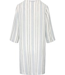 lange blouse van 100% linnen met 3/4-mouwen van elemente clemente wit