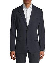 slim-fit button-front blazer