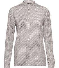 ls ck monogram shirt overhemd met lange mouwen grijs calvin klein