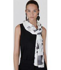 natori zen garden, silky soft scarf, women's, black natori
