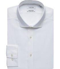 calvin klein infinite non-iron white slim fit dress shirt