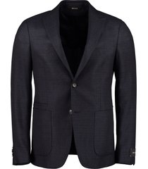 z zegna drop 8 single-breasted wool blazer