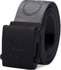 calvin klein men's 35mm ckj logo web belt