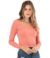 top acanalado rosa ragged pf12120148