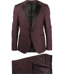 boss formal two-piece suit - red