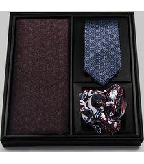 zestaw prezentowy szalik, krawat i poszetka m3