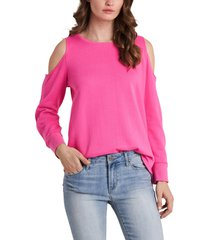 women's vince camuto cold shoulder top, size xx-large - pink