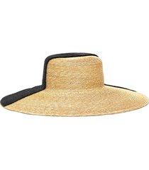 bicolour wide brim hat