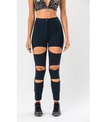 calça ecow legging básica com recortes