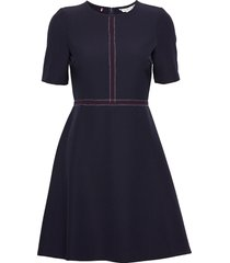 angela dress ss kort klänning blå tommy hilfiger