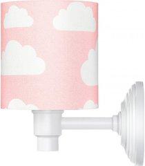 lampa kinkiet chmurki pink