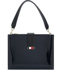 tommy hilfiger statement shoulder bag - blue