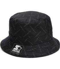 marcelo burlon county of milan chapéu com estampa de logo - preto