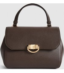 reiss lexi - leather satchel in brown, womens