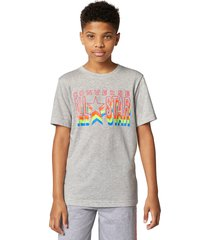 converse camiseta all star repeat lunar rock heather grey