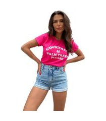 blusa in love t-shirt cocktails pink