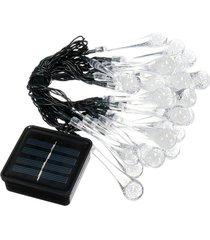 30 led luz de gota de agua luz solar impermeable al aire libre cadena