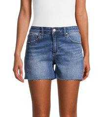 joe's jeans women's raw-edge denim shorts - atwater - size 26 (2-4)