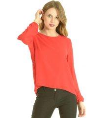 blusa donna rojo bous