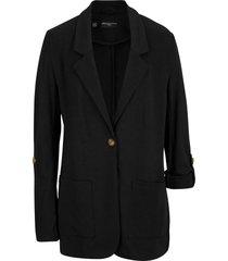 blazer lungo in felpa maite kelly (nero) - bpc bonprix collection